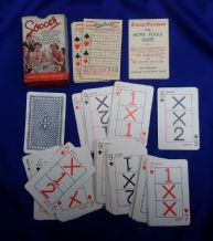 "Collectable Vintage football card game ""The Home Pools"" game,"